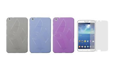 """TPU Gel Skin Cover Case and Screen Protector for Samsung Galaxy Tab 3 8"""" SM-T310"""