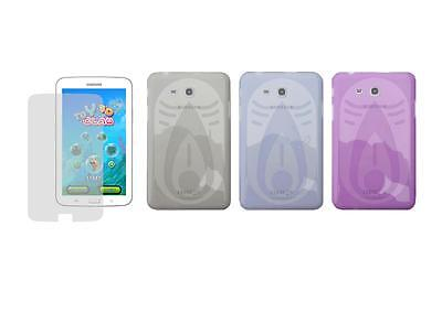 """TPU Skin Cover Case and Screen Protector for Samsung Galaxy Tab 3 Lite 7"""" T110"""