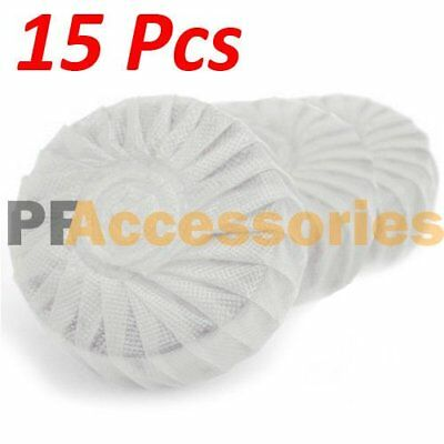 15 Pcs Automatic Bleach Toilet Bowl Tank Cleaner White Tablets Flush Cleaner