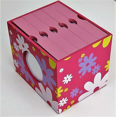 Photo Box Album Wooden Storage Frame Keepsake Display Home Pink Baby Girl Gift