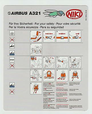 Safetycard NIKI partner of airberlin oneworld AIRBUS A321