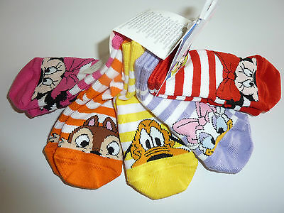Disney Little Girls Pack of 5 Pairs Socks..so Cute!! NWT