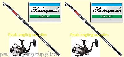 Shakespeare Omni 13ft Travel Telescopic Rod  Sea Fishing  & Sea  Reel option