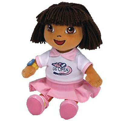 TY Beanie Baby - DORA the Explorer (US Open Version) - MWMT's Stuffed Animal Toy