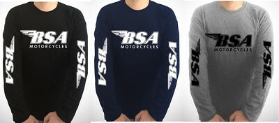 BSA SLEEVE PRINT motorcycle t-shirt - LOOK AT BOTH PHOTOS & THE DESCRIPTION