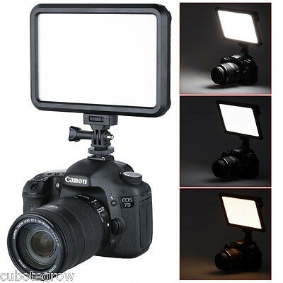 Ultra-thin On-Camera LED Video Light Dimmable Touch Panel for DSLR Canon Nikon