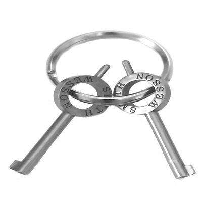 1 Pair Smith & Wesson Replacement Handcuff Keys With Key Ring