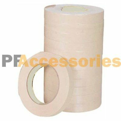 "15 Rolls 60 FT General Purpose Masking Tape 0.7"" inch Adhesive Ivory White LOT"
