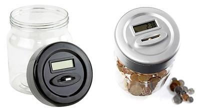 Digital Money Coin Counting  Box Jar Tin – Digital Piggy Bank with LCD Screen