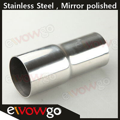 """2"""" To 2.5"""" Stainless Reducer Pipe Custom Turbo / Exhaust / Intercooler 5"""" Length"""