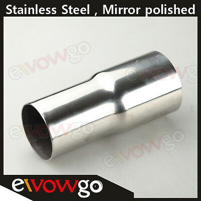 "51mm (2"") To 57mm (2.25"") Stainless Steel Flared Exhaust Reducer Connector Pipe"