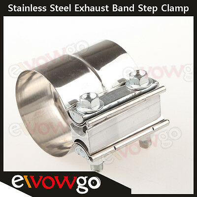 "2.25"" Stainless Steel Torctite Exhaust Band Clamp Step Clamps Lap Join"