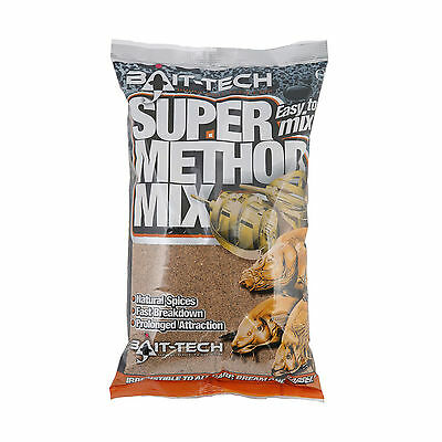 Bait-Tech Super Method Mix Natural High Attraction Carp Feeder Fishing Bait 1Kg