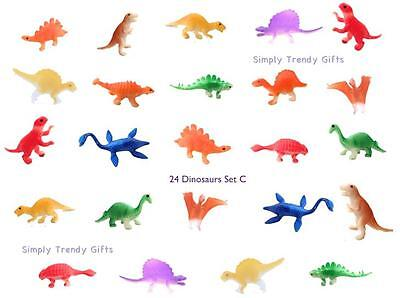 24 Dinosaurs Figures Kids Play Set Toy Game Animals Jurassic T-Rex TRex Plastic