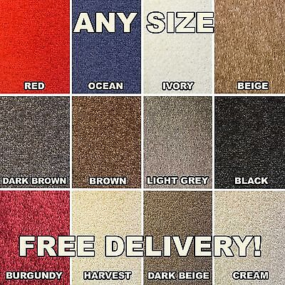 Quality Felt Back Twist Carpet - Cheap - New - Any Size Rolls - Lounge Bedroom