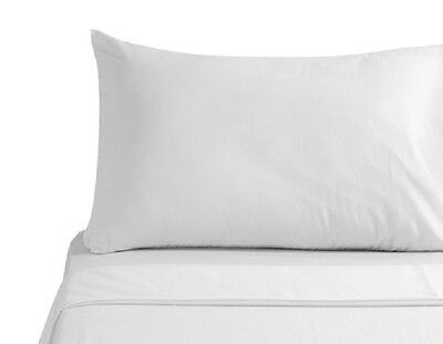 12-PACK NEW WHITE QUEEN SIZE ZIPPERED PILLOW PROTECTORS 20x30 100% COTTON