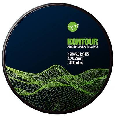 KORDA KONTOUR FLUROCARBON MAINLINE 12lb 200mtrs, FOR CARP FISHING - BRAND NEW