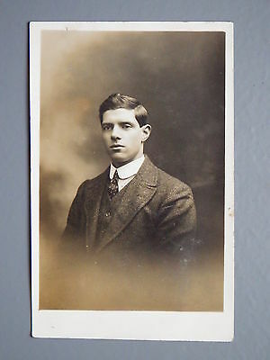 R&L Postcard: Studio Portrait Edwardian Well Groomed Man