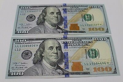2 New Uncirculated Hundred Dollar Bills Two $100 Notes 2009  2009A Various FRB