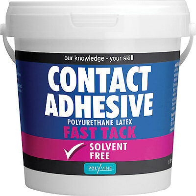 Polyvine Contact Adhesive Solvent Free Fast Tack 1L