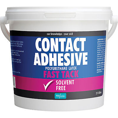 Polyvine Contact Adhesive Solvent Free Fast Tack 2.5L