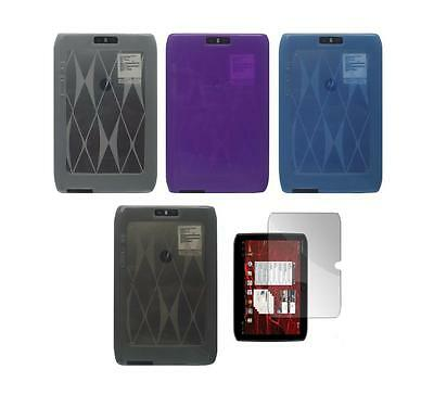 """TPU Skin Cover Case and Screen Protector for Motorola Droid Xyboard 8.2"""" Tablet"""