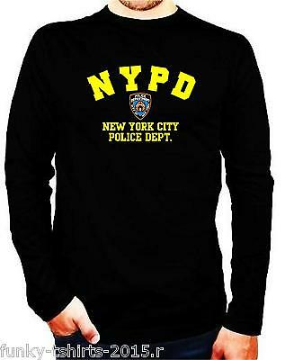 Camiseta Manga Larga  Nypd, New York Police Department