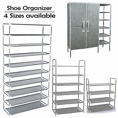Optional Shoe Rack 4 Tiers / 6 Tiers / 10 Tiers Metal Shoe Storage