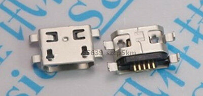 20X Micro Mini USB 5-pin SMD Female Socket Shen plate jack connector Ping mouth