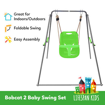Lifespan Kids Baby Swing Set Indoor/Outdoor Foldable #Bobcat