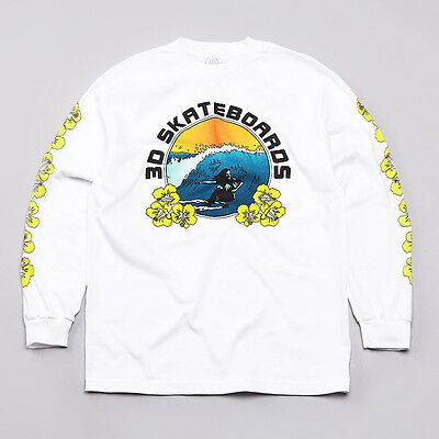 3D Skateboards Brian Anderson Hawaii Surf White T-shirt - Small