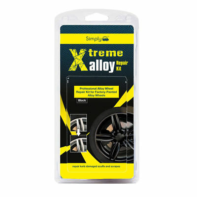 Xtreme Alloy Wheel Repair Mini Kit - Repair Kerb Scuffs Scrapes - Black