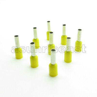 1000× Yellow 16AWG Cable Pre-Insulated Ferrules Terminal Wiring Connectors E1508