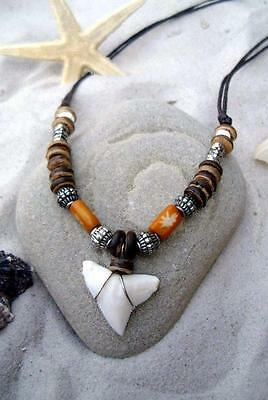 SHARK TOOTH NECKLACE surf surfer tribal teeth / n189kvi