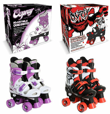 Osprey Boys Girls Quad Skates Size 10 11 12 13 1 2 3 4 5 Roller Skating Childs