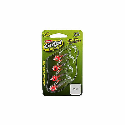 Berkley GHMJ116-O2 Gulp Heads Minnow Jigghead Orange 1/16 oz Pack of 4