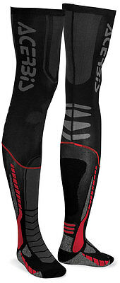 New Adult Acerbis X-Leg Full Length Motocross Enduro Socks Black & Red
