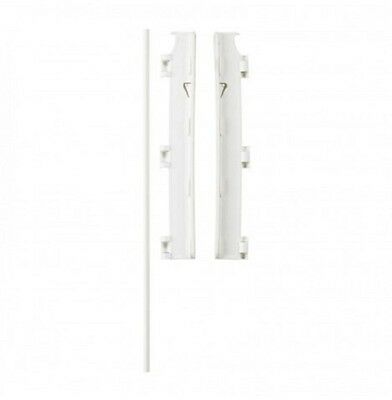 New Babydan White Wall Mounting Kit For Configure Gates And Babydens