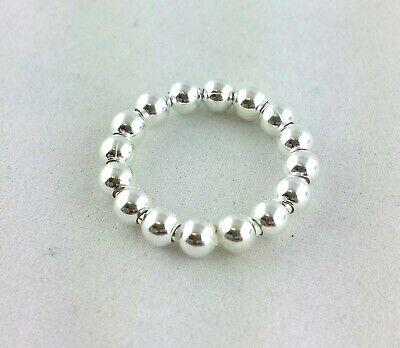 925 Sterling Silver Stacking Bubble Bead Ring