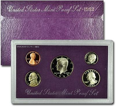 1992 United States US Mint 5pc Clad Proof Set SKU1438