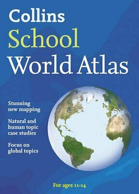 Collins School World Atlas (Collins School Atlas) Paperback Book The Cheap Fast