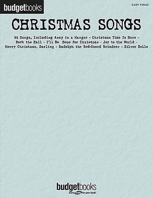 Budget Books - Christmas Songs Easy Piano Book *NEW* Sheet Music 91 Songs