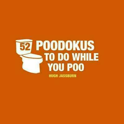 52 PooDokus to Do While You Poo by Hugh Jassburn (English) Hardcover Book Free S