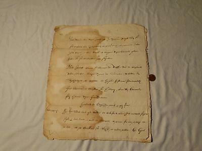 Antique 1607 Manuscript Document 3 Page ANIMAL Watermark UNIDENTIFED Origin #A30