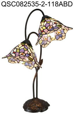 New Arrivals @Classic Floral Tiffany Leadlight  Stained Glass Desk Lamp