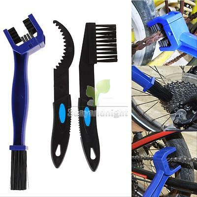 Motorcycle Bike Gear Chain Crankset Scrubber Cleaning Brush Tool Dirt Remover