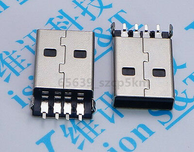 10PCS USB 2.0 Type-A Male 4 Pin Shen board SMD PCB installation Plug Connector