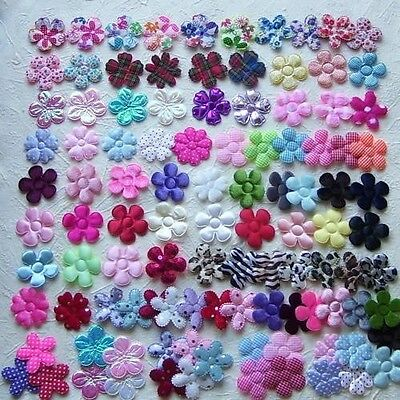 10 Embellishment Flowers 4.7Cm Approx (Lots Of Colours To Choose)