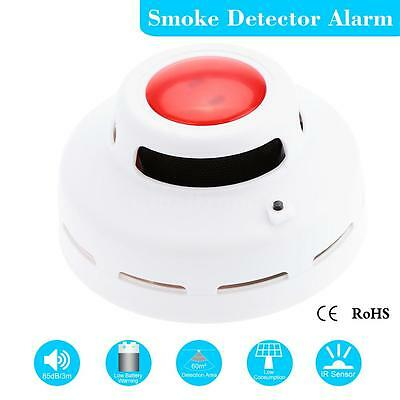 Standalone Photoelectric Smoke Detector Fire Security Alarm Equipment White 54AL