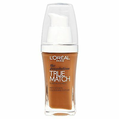 New Loreal Paris True Match Foundation N8 Cappuccino Shade 30ml Brown Colour